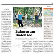 "Qigong in der Presse – ""Achtsam und gesund am Untersee"""